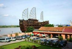 Плавучий дом, ресторан, порт rong nha Стоковые Изображения RF