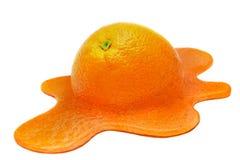 Плавя апельсин Стоковое Изображение