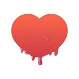 Плавя красный значок сердца Стоковое Фото