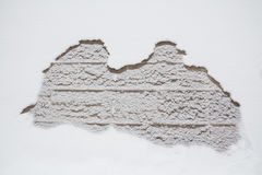 Плавя крышка снега Стоковая Фотография RF