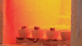 Плавя печь сток-видео