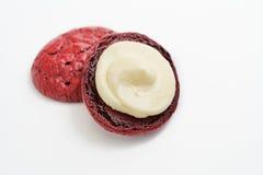 Плавленый сыр красного бархата Стоковые Изображения