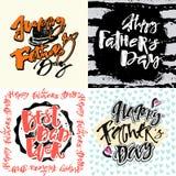 Плакаты мотивировки литерности руки концепции дня отцов Стоковые Изображения