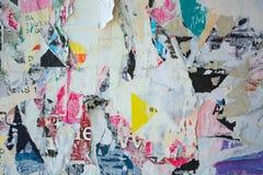 Плакаты сорванные конспектом Стоковое Фото