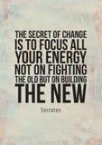 Плакаты Grunge мотивационные с цитатами дела Стоковые Фото