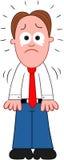 Плакать бизнесмена шаржа Стоковое Изображение RF
