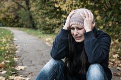 Плакать девушки Стоковая Фотография