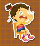 Плакать девушки Стоковые Фотографии RF