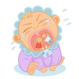 плакать младенца милый Стоковые Фото