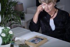 Плакать после супруга Стоковая Фотография