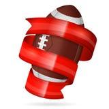 плакат американского футбола Стоковые Фото