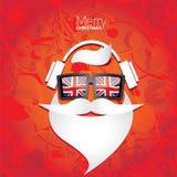 Плакат битника рождества для партии или карточки Стоковая Фотография RF
