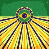 Плакат Бразилии винтажный патриотический - прочешите дизайн вектора иллюстрация вектора