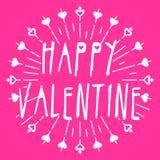 Плакат валентинки Стоковая Фотография