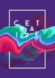 Плакат вектора цвета Яркие абстрактные чернила для различного дизайна Стоковое Изображение RF