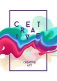 Плакат вектора цвета Яркие абстрактные чернила для различного дизайна Стоковая Фотография RF