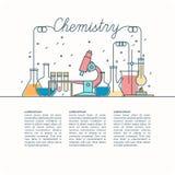 Плакат вектора для химии Стоковое Изображение RF