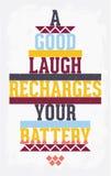 Плакат винтажного grunge мотивационный с цитатой Стоковые Изображения