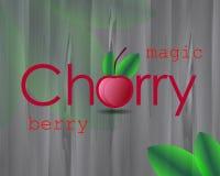 Плакат вишни с ягодой изображения Стоковая Фотография