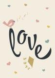Плакат влюбленности Стоковые Фотографии RF