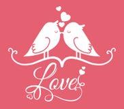 Плакат влюбленности Стоковая Фотография RF
