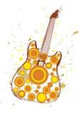 Плакат гитары осени Стоковое Изображение RF