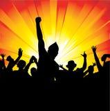 Плакат девушек и мальчиков танцев Стоковые Фотографии RF