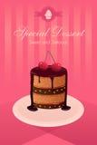 Плакат десерта Стоковое Фото