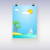 Плакат летних каникулов Стоковые Изображения