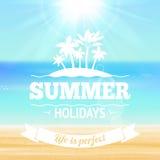 Плакат летних отпусков иллюстрация штока