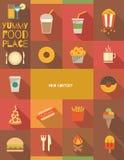 Плакат еды Стоковое Изображение
