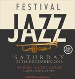 Плакат джазового фестиваля иллюстрация штока