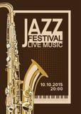 Плакат джазового фестиваля Стоковые Фотографии RF
