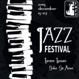 Плакат джазового фестиваля Стоковое фото RF