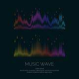 Плакат звуковой войны от выравнивателя Стоковые Изображения
