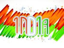 Плакат, знамя или рогулька на индийский день республики Стоковое фото RF