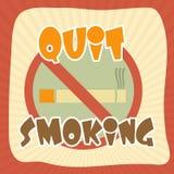 Плакат, знамя или рогулька на для некурящих день Стоковые Изображения