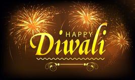 Плакат, знамя или рогулька для счастливого Diwali Стоковое Изображение