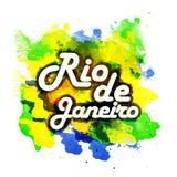 Плакат, знамя с текстом Рио-де-Жанейро Стоковое Фото