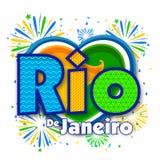 Плакат, знамя с текстом Рио-де-Жанейро Стоковое Изображение RF