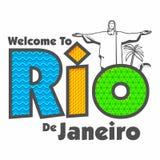 Плакат, знамя с текстом Рио-де-Жанейро Стоковая Фотография
