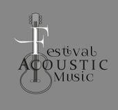 Плакат дизайна шаблона: Акустический музыкальный фестиваль Стоковые Изображения