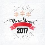 Плакат 2017, дизайн торжества Нового Года знамени Стоковые Изображения RF