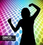 Плакат диско с танцорами Стоковые Фотографии RF