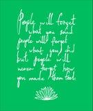 Плакат литерности Вдохновляющая цитата Иллюстрация рук-литерности вектора внезапный тип эскиза света компьтер-книжки Стоковые Изображения RF