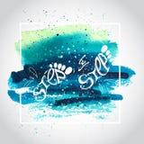 Плакат литерности Стоковая Фотография RF