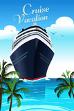 Плакат каникул круиза Стоковое Изображение