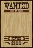 Плакат ковбоя шаржа Стоковые Фотографии RF