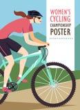 Плакат конкуренции горы велосипед Стоковое Изображение RF