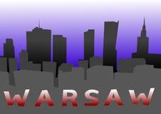 Плакат конспекта Варшавы Стоковое Изображение